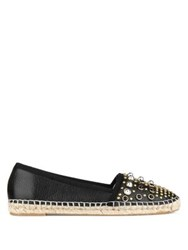 Kenneth Cole Brigid Studded Leather Espadrilles Beige