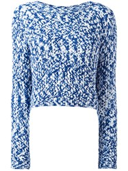 Dondup Chunky Knit Jumper Blue