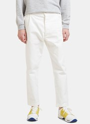 Sunnei Cropped Straight Leg Jeans White
