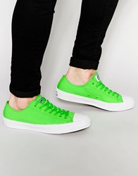 Converse Chuck Taylor All Star Ii Plimsolls In Neon Green 151122C Green