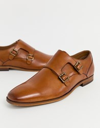 Pier One Monk Shoes In Tan Leather