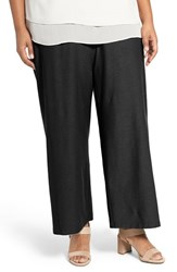 Eileen Fisher Plus Size Women's Washable Stretch Crepe Crop Pants Black