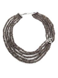 John Hardy Legends Cobra Batu Grey Moonstone Black Onyx And Sterling Silver Multi Strand Beaded Necklace