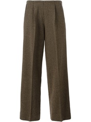 Jean Paul Gaultier Vintage Wide Leg Trousers Brown