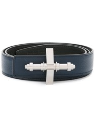 Givenchy Reversible Obsedia Buckle Belt Blue