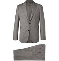 Z Zegna Grey Wash And Go Slim Fit Techmerino Puppytooth Wool Suit Gray