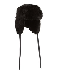Neiman Marcus Faux Fur Trapper Hat Black Fox