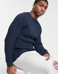 Esprit Chunky Knit Jumper In Navy