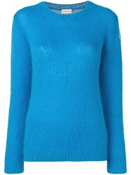 Moncler Knitted Sweater Blue