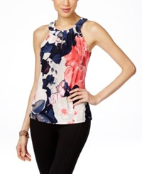 Inc International Concepts Printed Keyhole Halter Top Only At Macy's Autumn Blossom