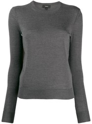 Theory Crew Neck Sweatshirt Grey