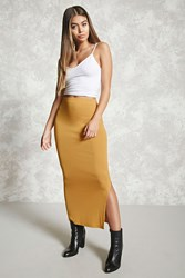 Forever 21 Bodycon Slit Maxi Skirt