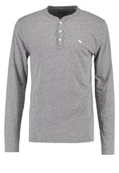 Abercrombie And Fitch Long Sleeved Top Grey Mottled Grey