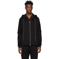 The Viridi Anne Black French Terry Hoodie