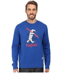 Penfield Ski Bear Sweat Blue Men's Clothing