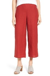 Eileen Fisher Women's Organic Linen Crop Wide Leg Pants