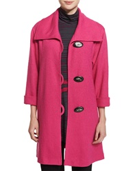 Caroline Rose Paris Plush Easy Coat Pink