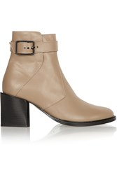 Helmut Lang Leather Ankle Boots Nude