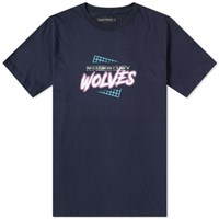Raised By Wolves Vaporwave Tee Blue