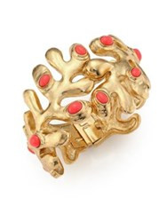 Oscar De La Renta Sea Tangle Resin Cuff Bracelet Coral