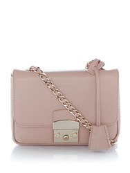 Coccinelle Margo Chain Foldover Crossbody Bag Pink