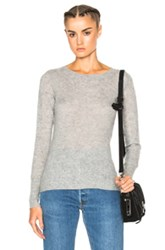 James Perse Thermal Crew Sweater In Gray