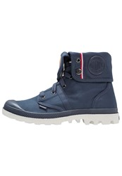 Palladium Pallabrouse Laceup Boots Parisian Night Silver Dark Blue