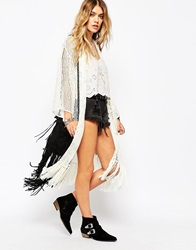 Denim And Supply Ralph Lauren Denim And Supply By Ralph Lauren Kimono Crochet Cardigan Cream
