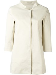Herno Three Quarters Sleeve Jacket Nude Neutrals