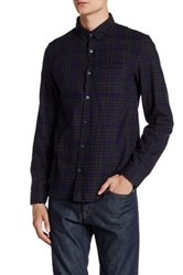 Zadig And Voltaire Tao Carreau Button Down Flannel Long Sleeve Shirt Green