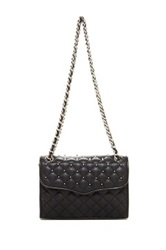 Rebecca Minkoff Studded Quilted Mini Affair Leather Handbag Black