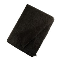 Bronte By Moon Mohair Throw Gun Metal