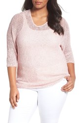 Nic Zoe Plus Size Women's Sunkissed Sheer Linen Blend Pullover