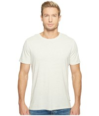 Ag Adriano Goldschmied Theo Short Sleeve Crew Pigment Anchor Grey Men's Clothing White