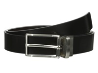 Calvin Klein 32Mm Reversible Flat Strap Spazz Leather To Smooth Black Brown Men's Belts