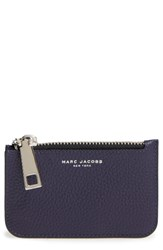 Marc Jacobs Women's 'Gotham' Pebbled Leather Key Pouch Blue Nightshade