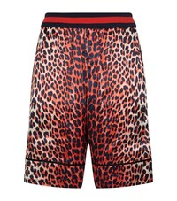 3.1 Phillip Lim Reversible Leopard Print Boxing Shorts Male Red