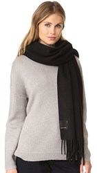 Canada Goose Solid Woven Scarf Black