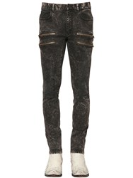 Faith Connexion 16Cm Acid Washed Denim Biker Jeans