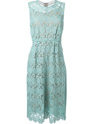 Muveil Floral Lace Midi Dress Green