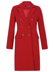 David Barry Db Lined Coat Red