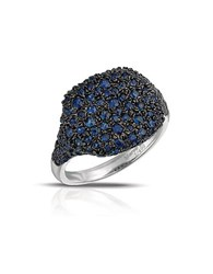 Marco Moore Sapphire And 14K White Gold Cocktail Ring Blue