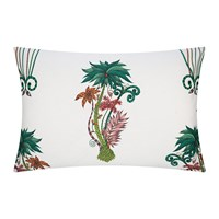 Emma J Shipley Jungle Palms Pillowcase Set Of 2 White 50X75cm