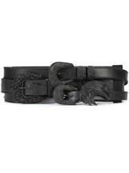 Maison Martin Margiela Triple Buckle Belt Black