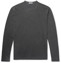 James Perse Combed Cotton Jersey T Shirt Dark Gray