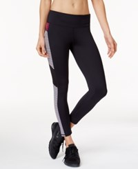 Ideology Cropped Striped Leggings Created For Macy's Noir