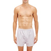 Barneys New York Men's Mixed Stripe Boxers White