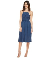 Lucky Brand Schiffli Bib Dress Insignia Blue Women's Dress
