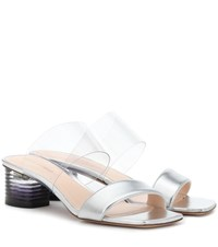 Nicholas Kirkwood Peggy Leather And Pvc Mules Silver