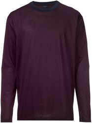 Lanvin Long Sleeve T Shirt Pink And Purple